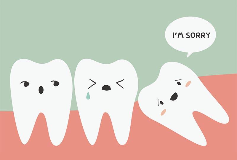 tooth sideways i'm sorry